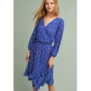 Anthropologie Tracy Reese Wrap Floral Swing Dress